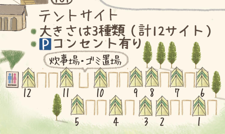 テントサイト・全体マップ